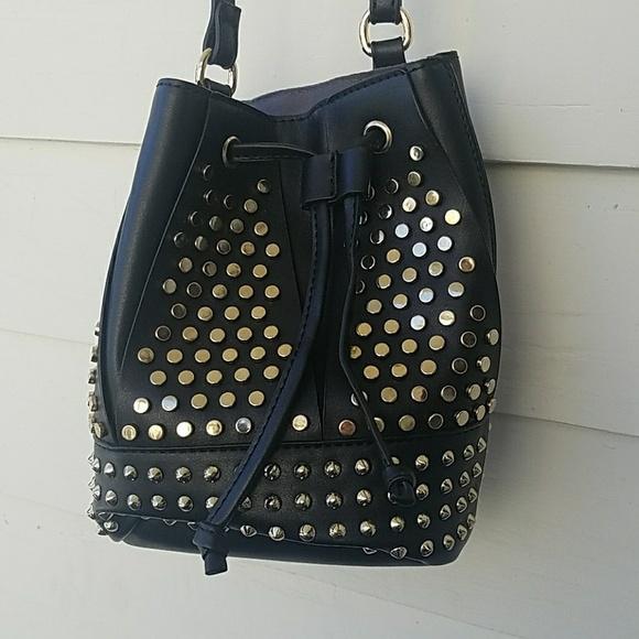 7168d196c35a JustFab Handbags - Justfab Mini Studded Bucket Bag